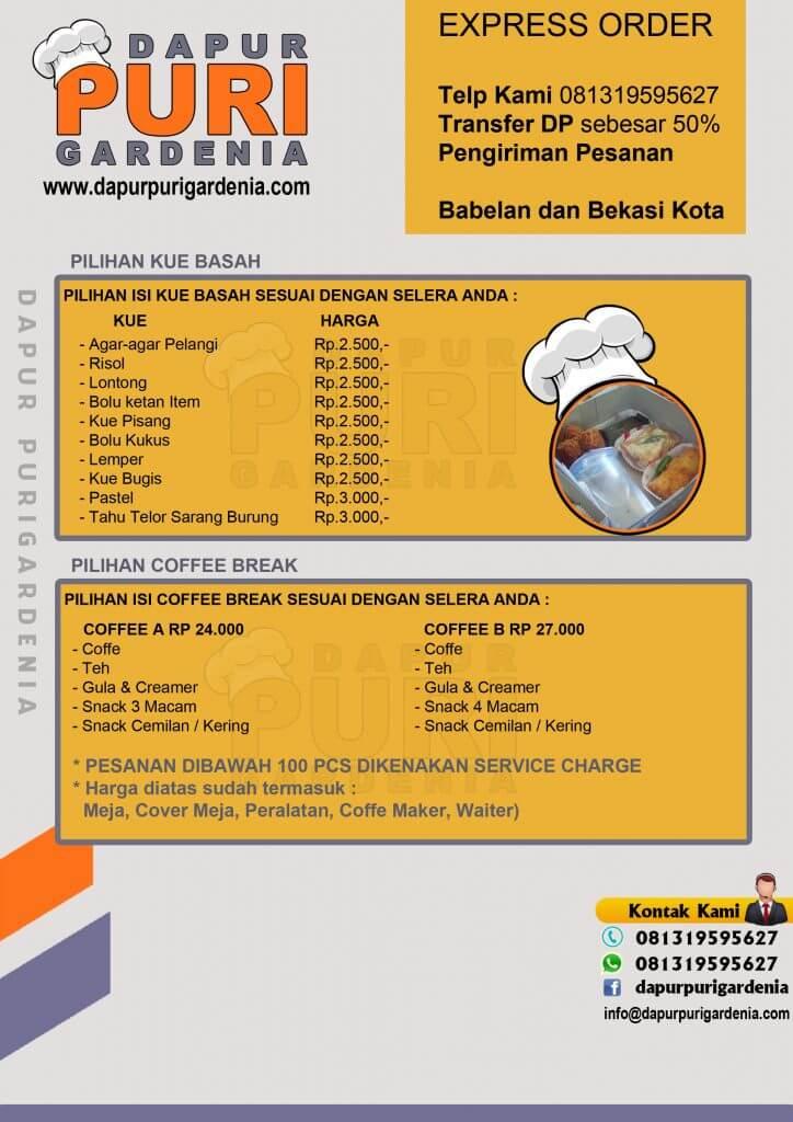 Pesan Kue basah dan Coffee Break