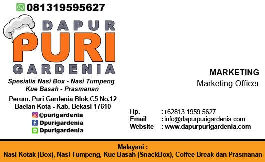 Kartu Nama Catering Bekasi