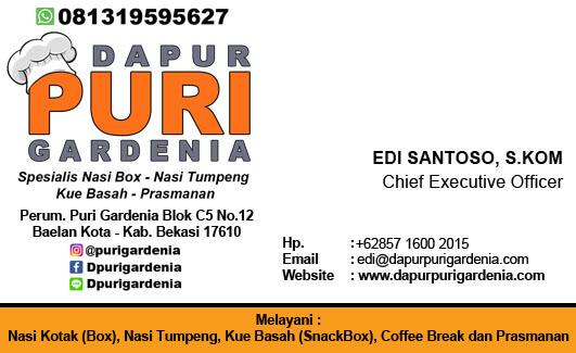 Kartu Nama Catering Bekasi - Edi Santoso