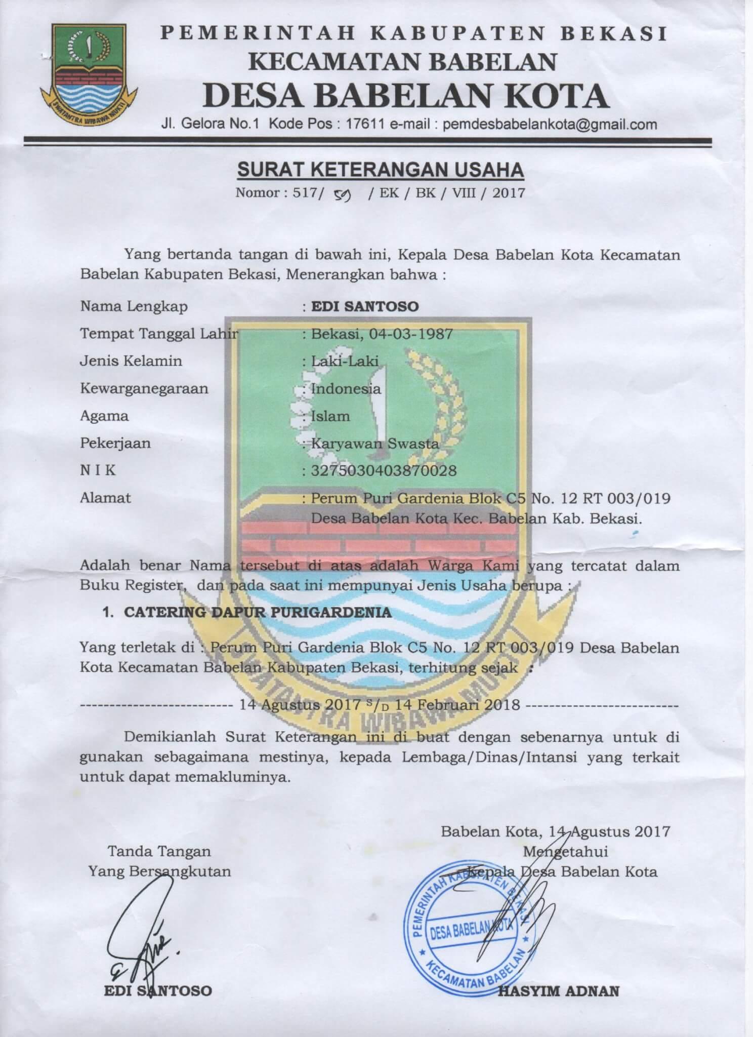 Sku Dapur Purigardenia 081319595627 Catering Bekasi Jakarta