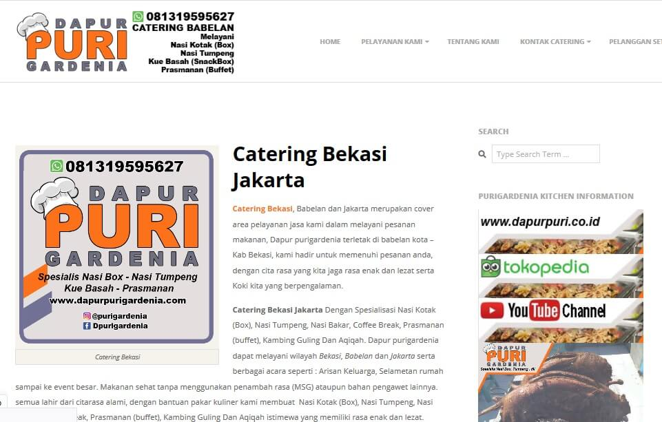 Catering dapur purigardenia