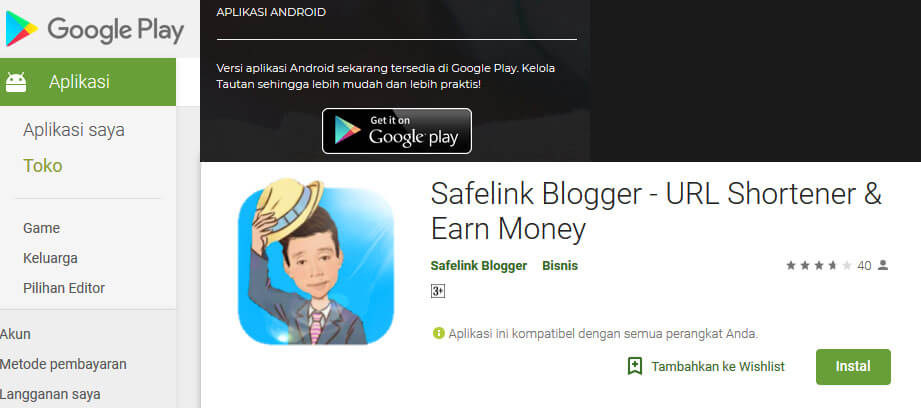 Download Safelink Blogger