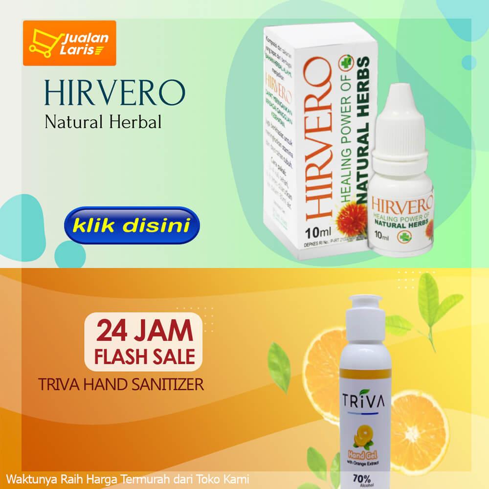 Obat Hirvero dan Hand sanitizer